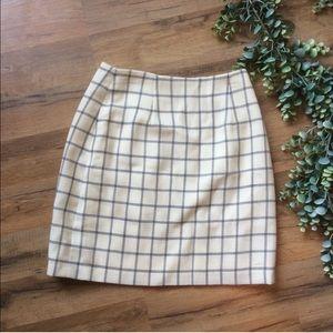 Ann Taylor | Vintage 90's Windowpane Mini Skirt